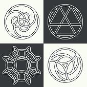 Set of the ancient symbols
