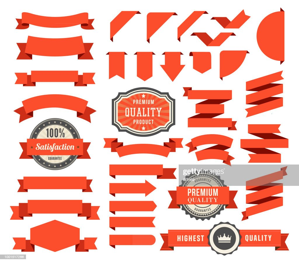 Set of the Ribbons : Illustrazione stock