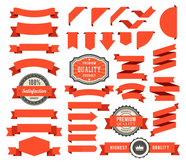 set of the ribbons - vector stock illustrations