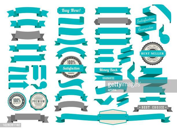ilustrações, clipart, desenhos animados e ícones de conjunto de os laços - banner web