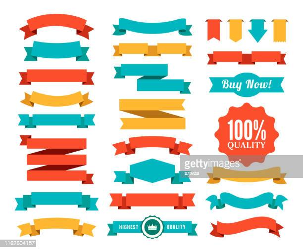set of the ribbons - placard stock illustrations