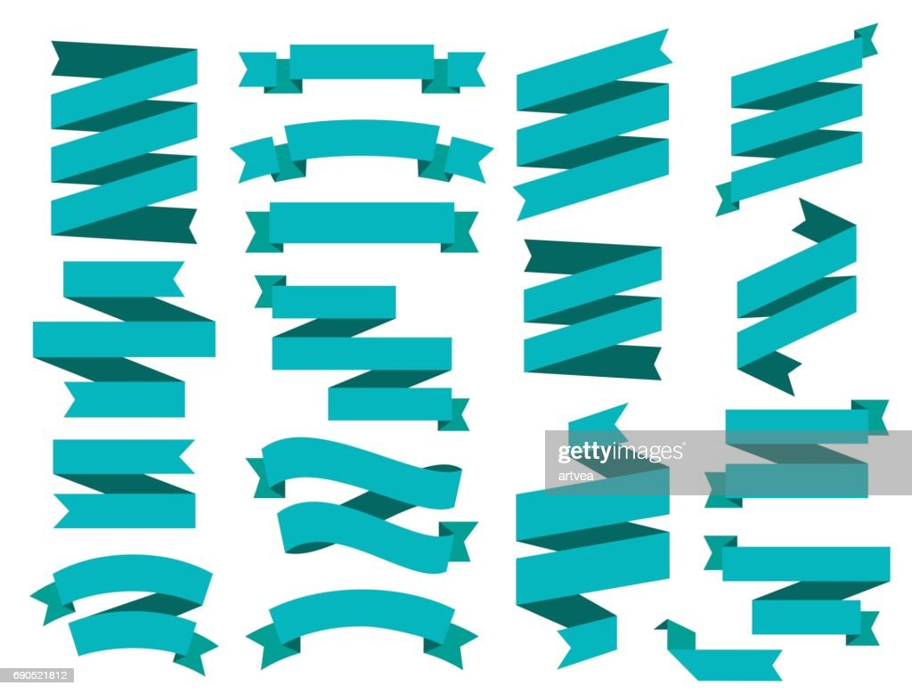Set of the Ribbons : stock illustration
