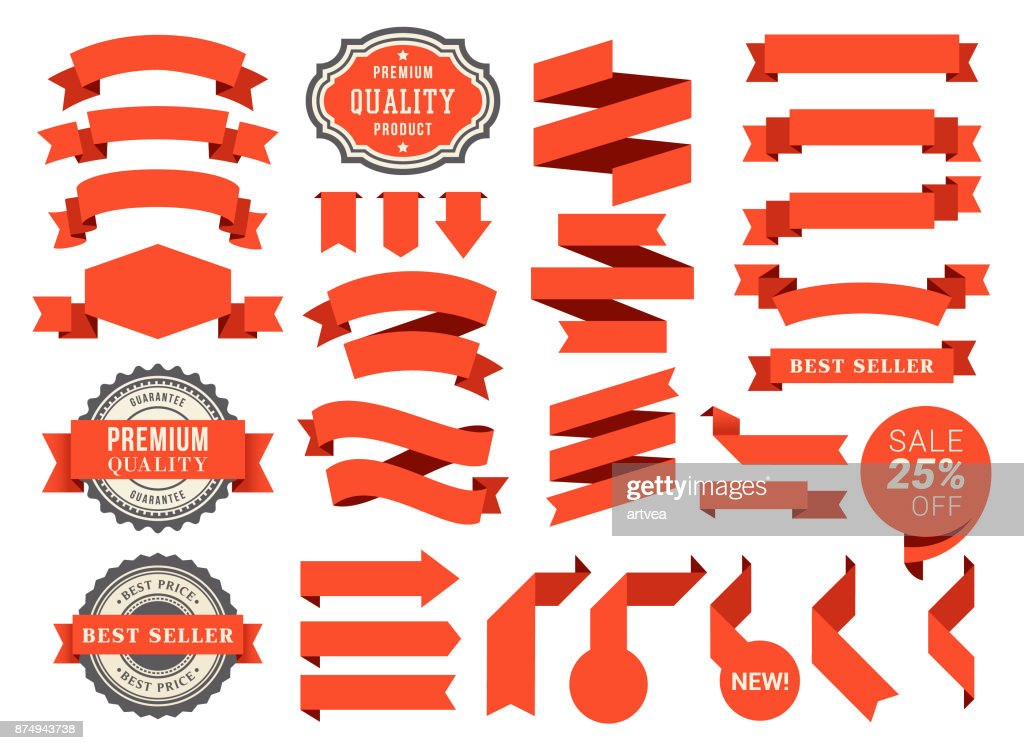 Set of the Ribbons : stock vector