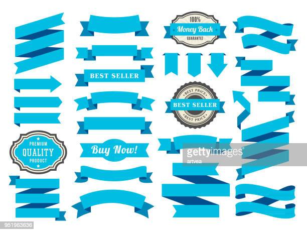 set of the ribbons - flag stock illustrations