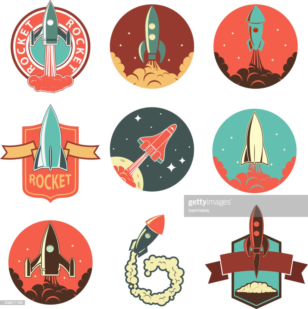 Set of the rocket labels