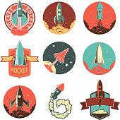 Set of the rocket labels