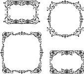 Set of the vintage decorative frames