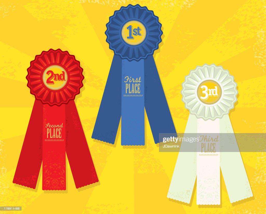 Set of three Award ribbons