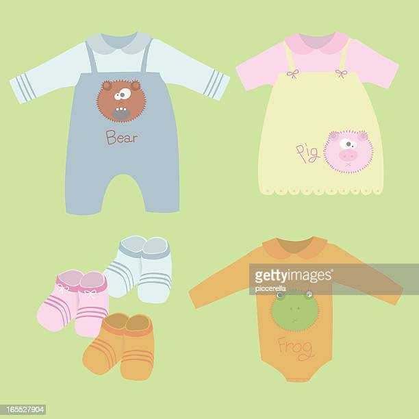 Set of three cute baby dresses