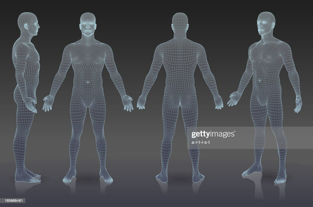 Set of three dimensional people. : stock illustration