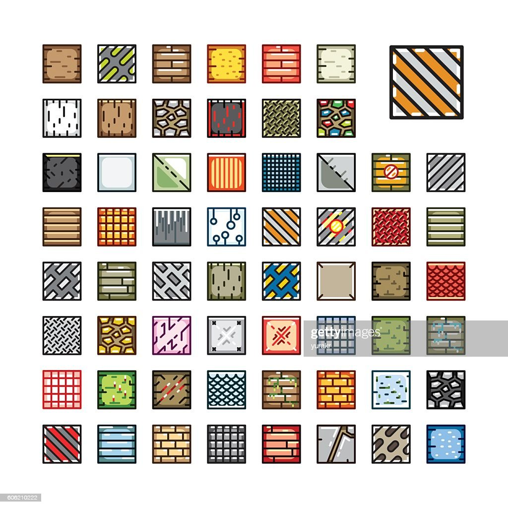 Set of tilesets for video game