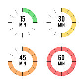 Set of timers icons