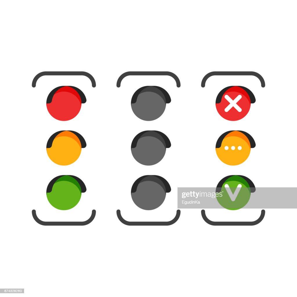 Set of traffic light icons