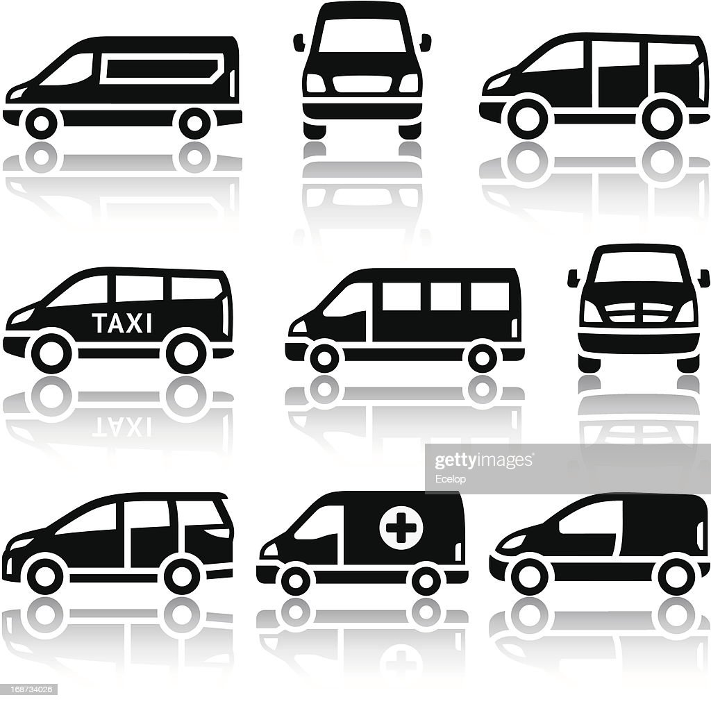 Set of transport icons - Van