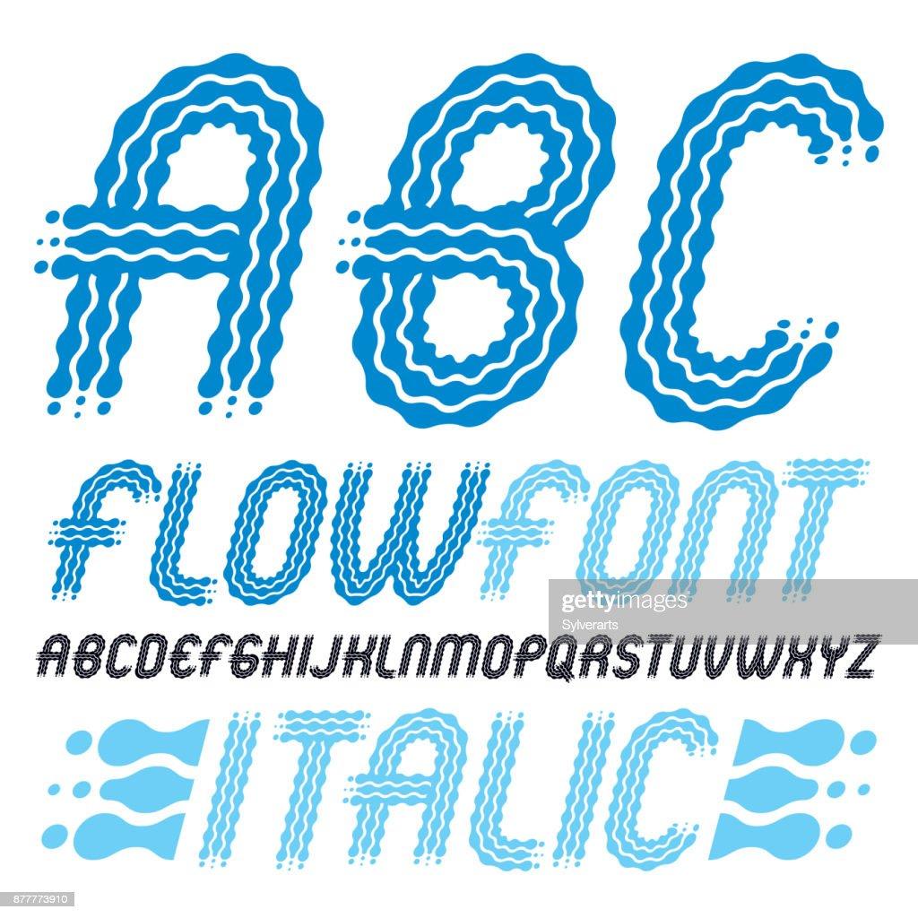 Abc Creation tout set of trendy pop vector capital english alphabet letters abc