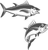 Set of tuna icons