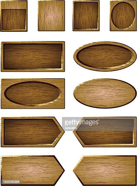 木製のボード - ハーフティンバー様式点のイラスト素材/クリップアート素材/マンガ素材/アイコン素材