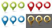 set of twelve multi-colored markers location