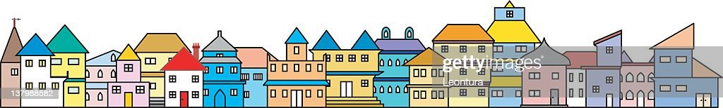 Set of Twenty Moveable Houses