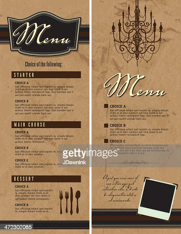 Set Of Two Elegant Menu Design Templates Vector Art  Getty Images