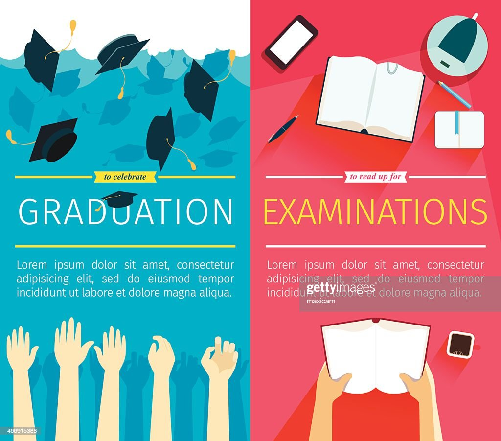 Set of two vector education banners
