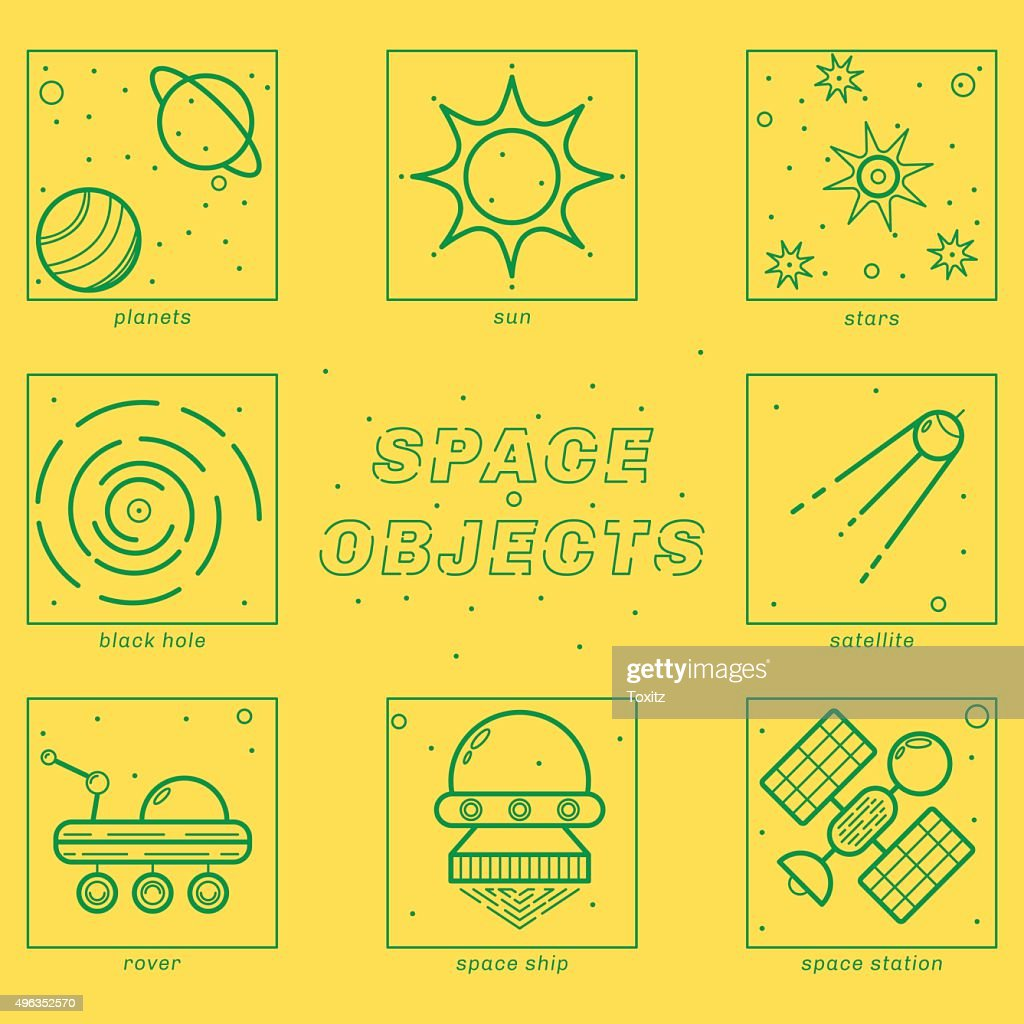 Set of Universe Infographics - Solar system, Planets comparison, Sun