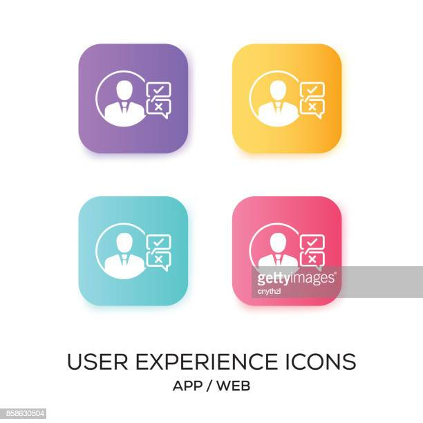 Set of User Experience App Icon