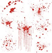 Set of Various Blood Splatters