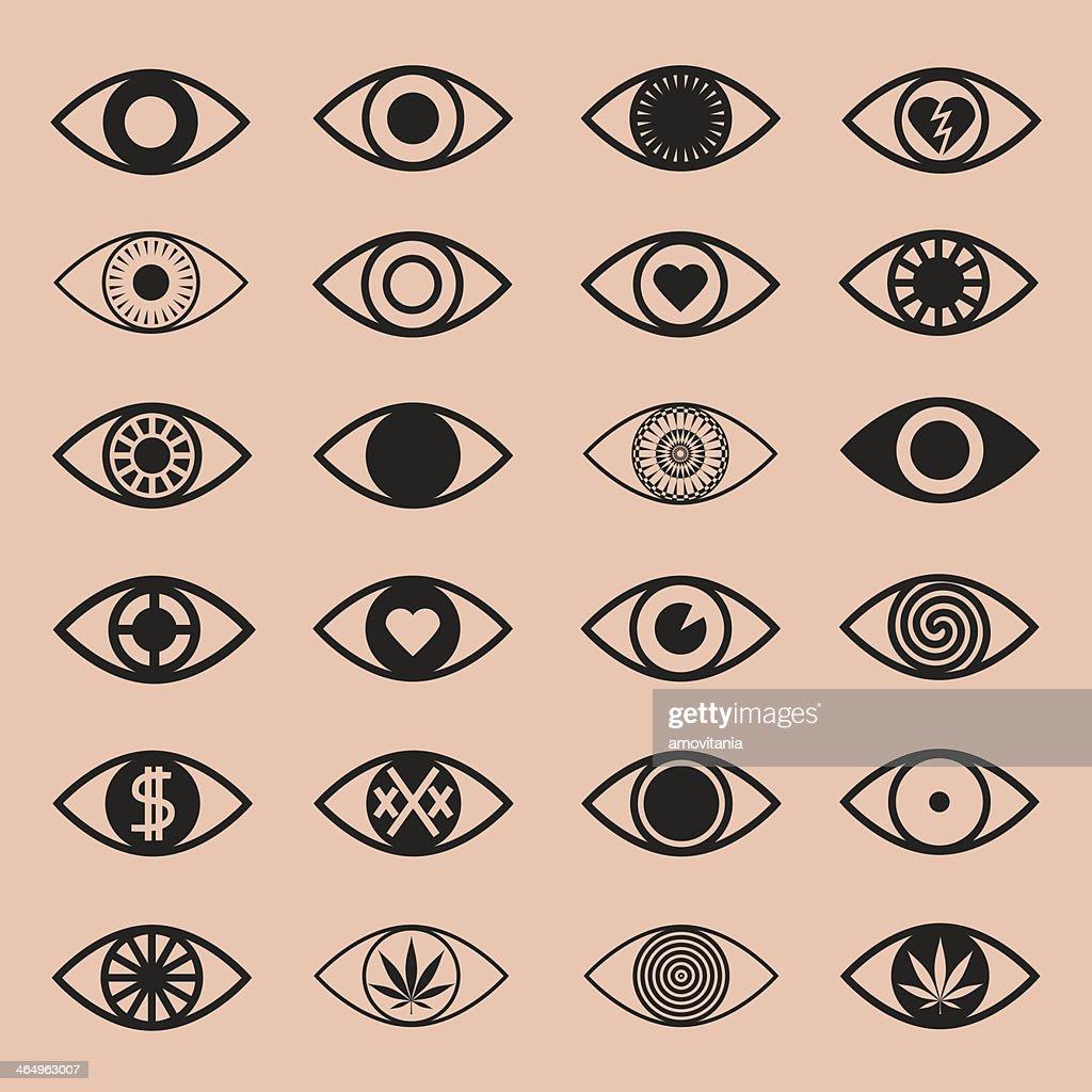 Set of Various Eye Icons
