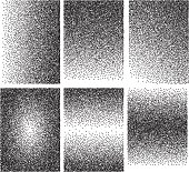 Set of vector backgrounds with gradient transitions from black points.