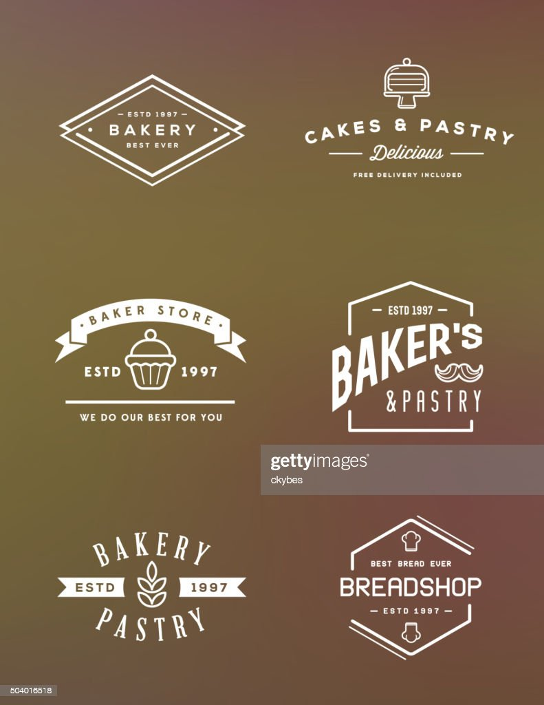 Set of Vector Bakery Pastry Elements