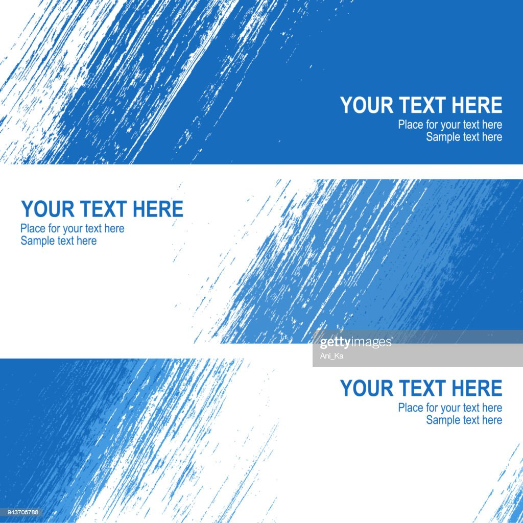 Set of vector banners with strokes : stock illustration