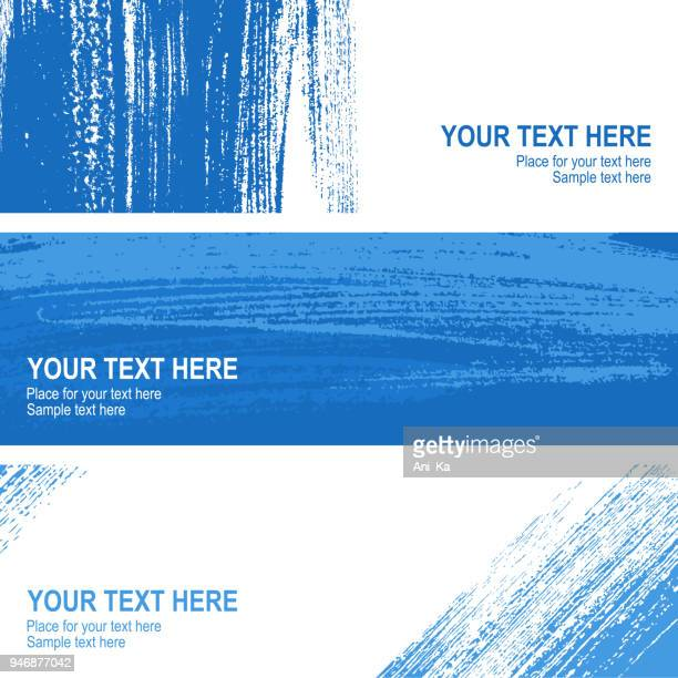 Set of vector banners with strokes