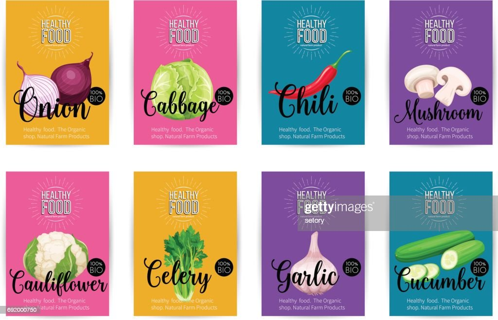 Set of vector banners with vegetables