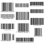 set of vector barcodes.