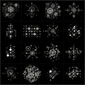 Set of vector Bauhaus abstract monochrome backgrounds