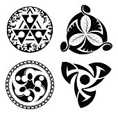 set of vector black design elements - logotypes