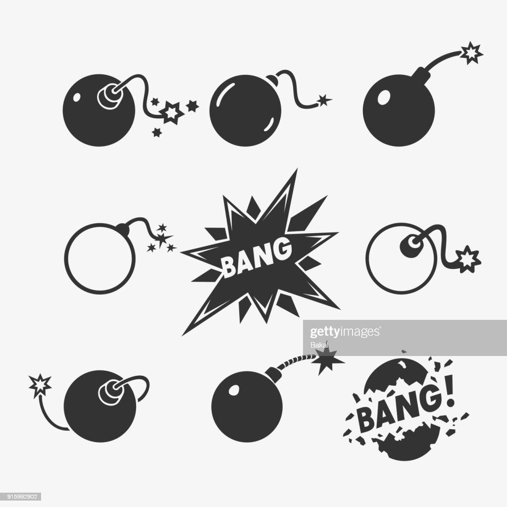 Set of Vector Bomb Symbols