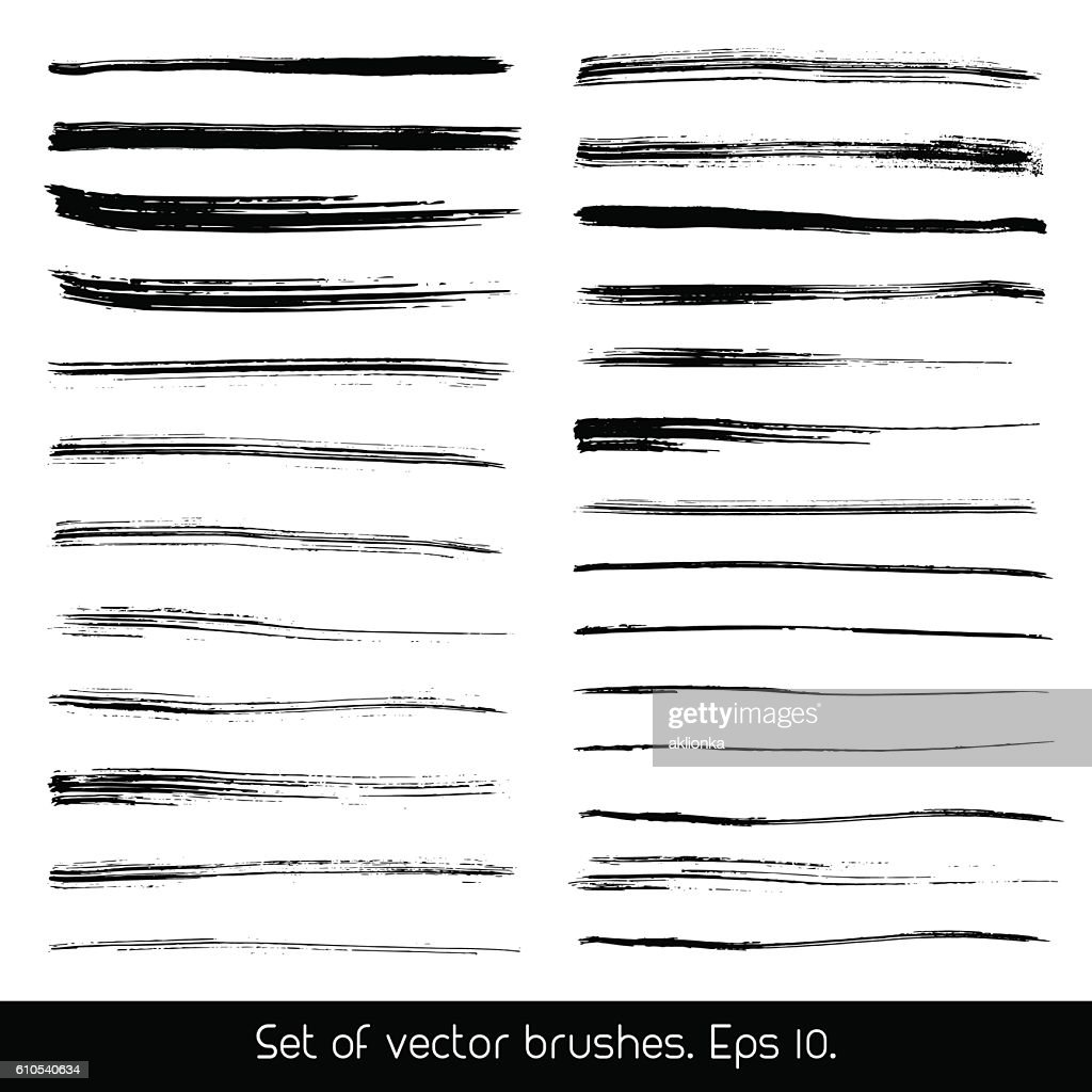 Set of vector brushes.