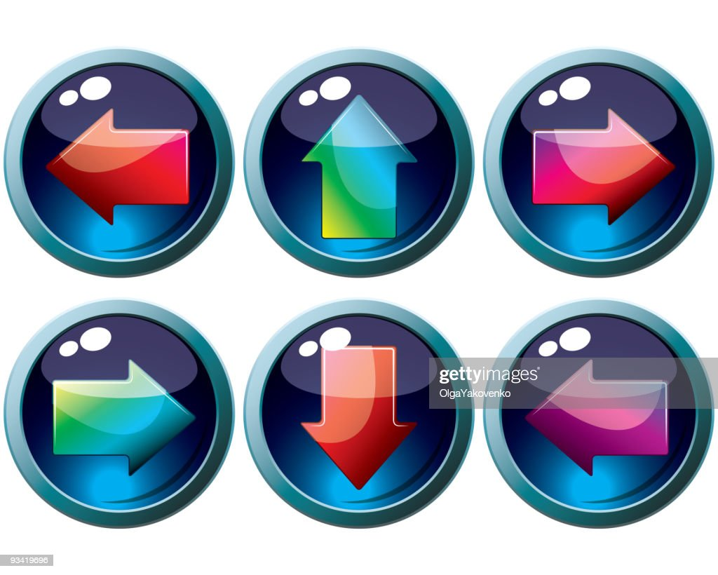 Set of vector buttons