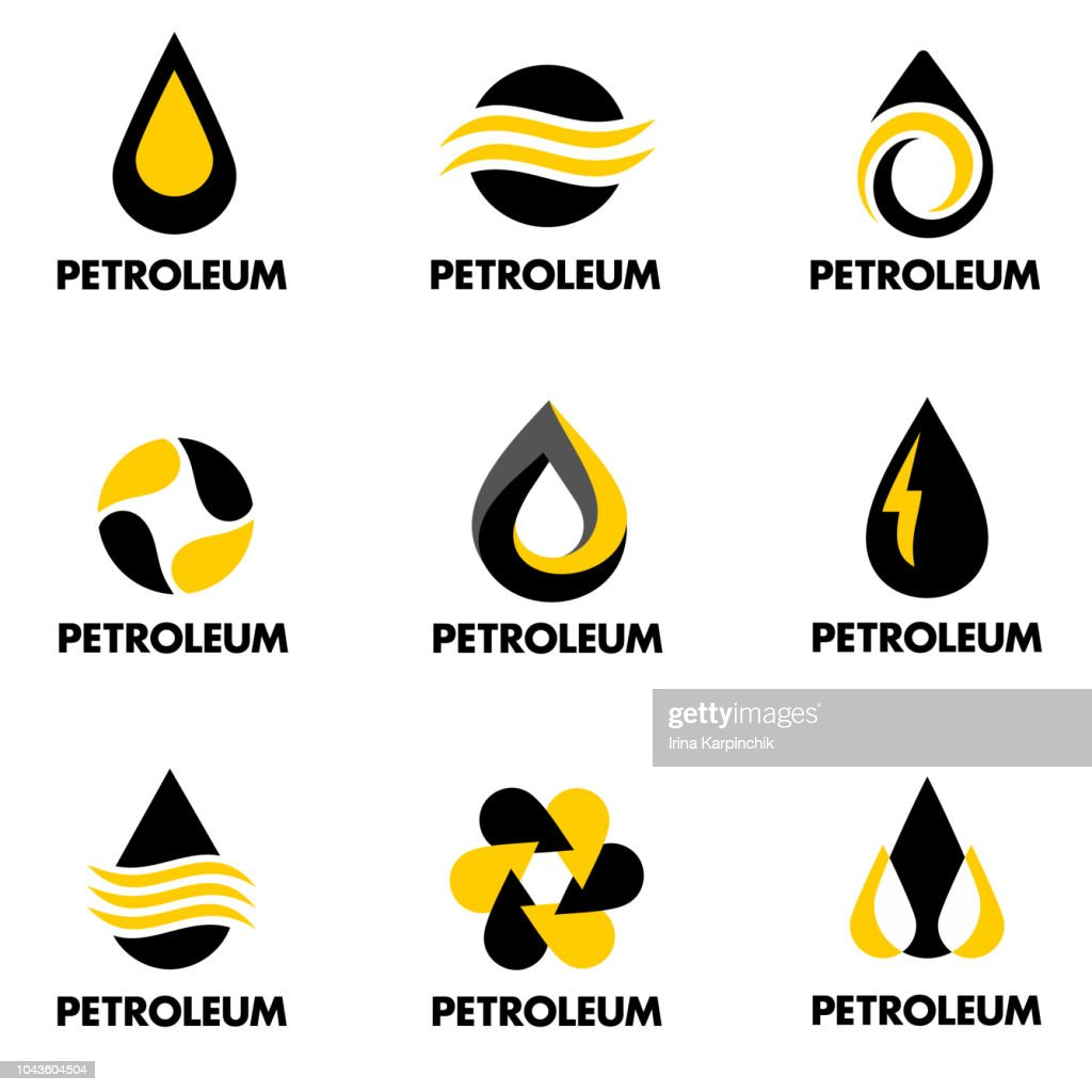 Set of vector design for petroleum products