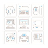 Set of vector electronics icons and concepts