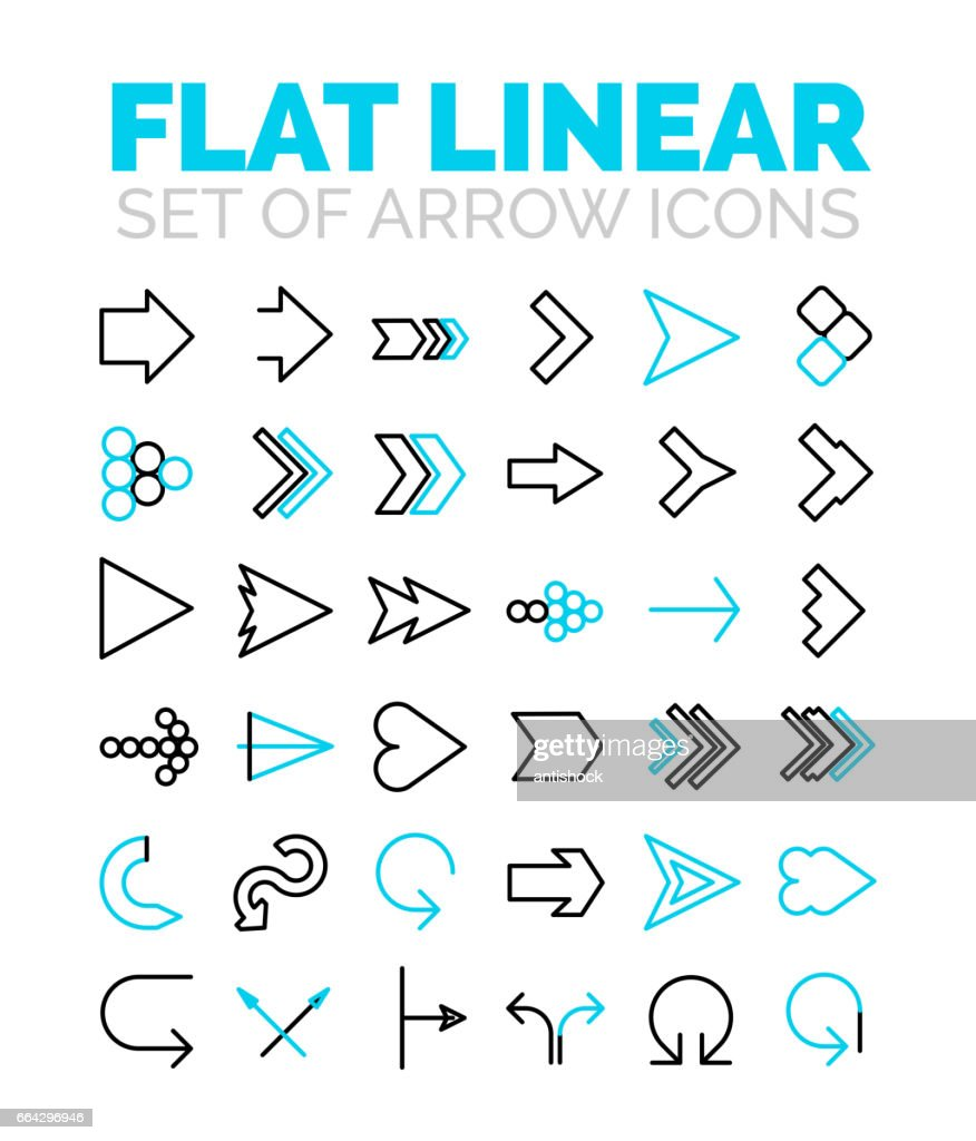 Set of vector flat linear premium icons