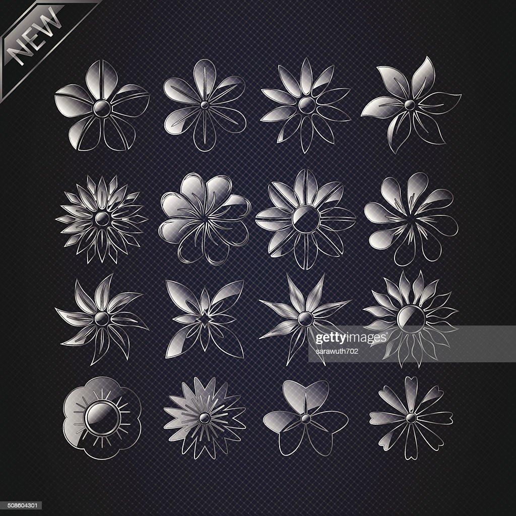 Set of Vector Flowers. : Vector Art
