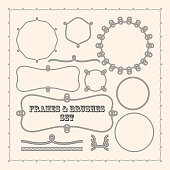 Set of vector frame templates and rope brushes.