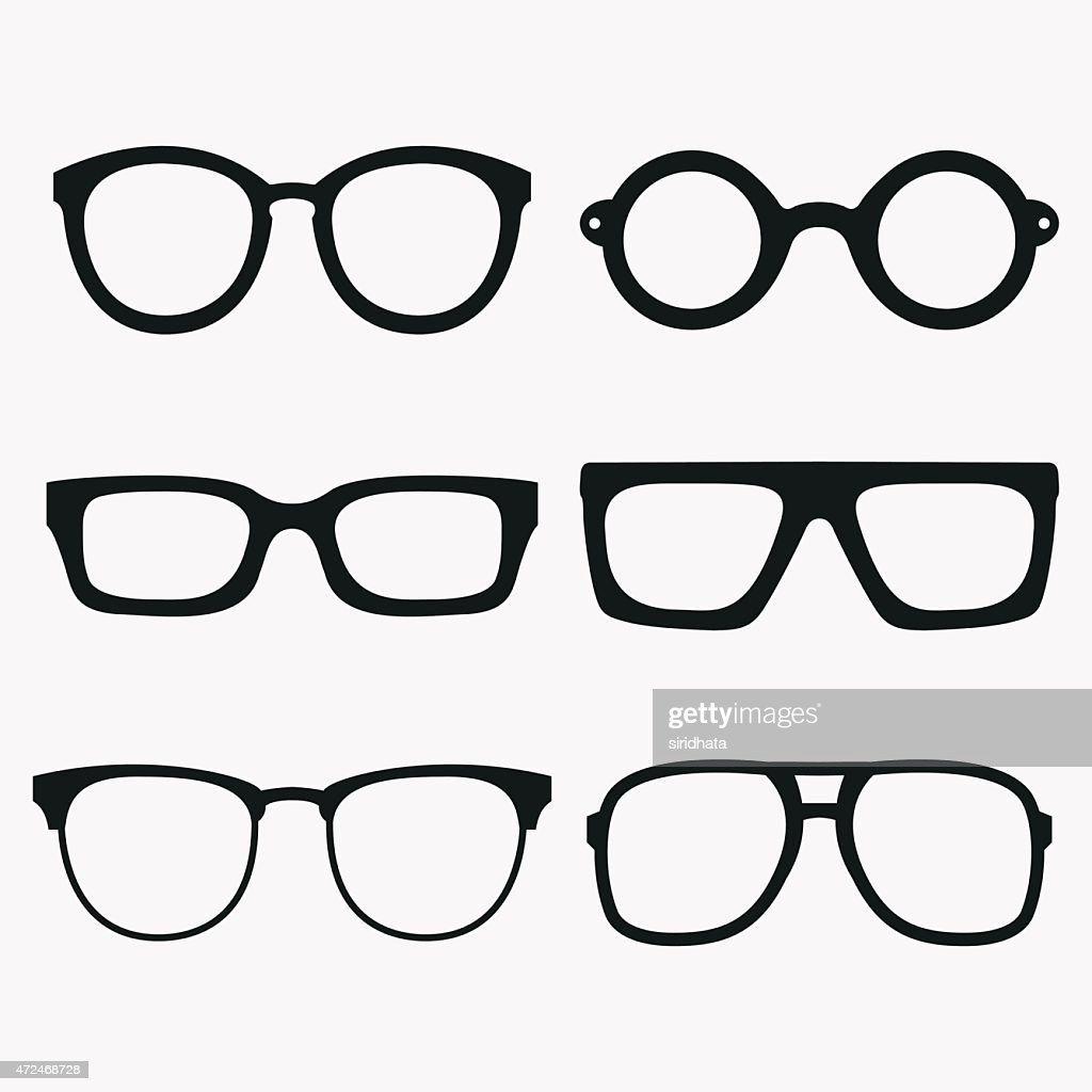 Set of Vector Glasses Frames