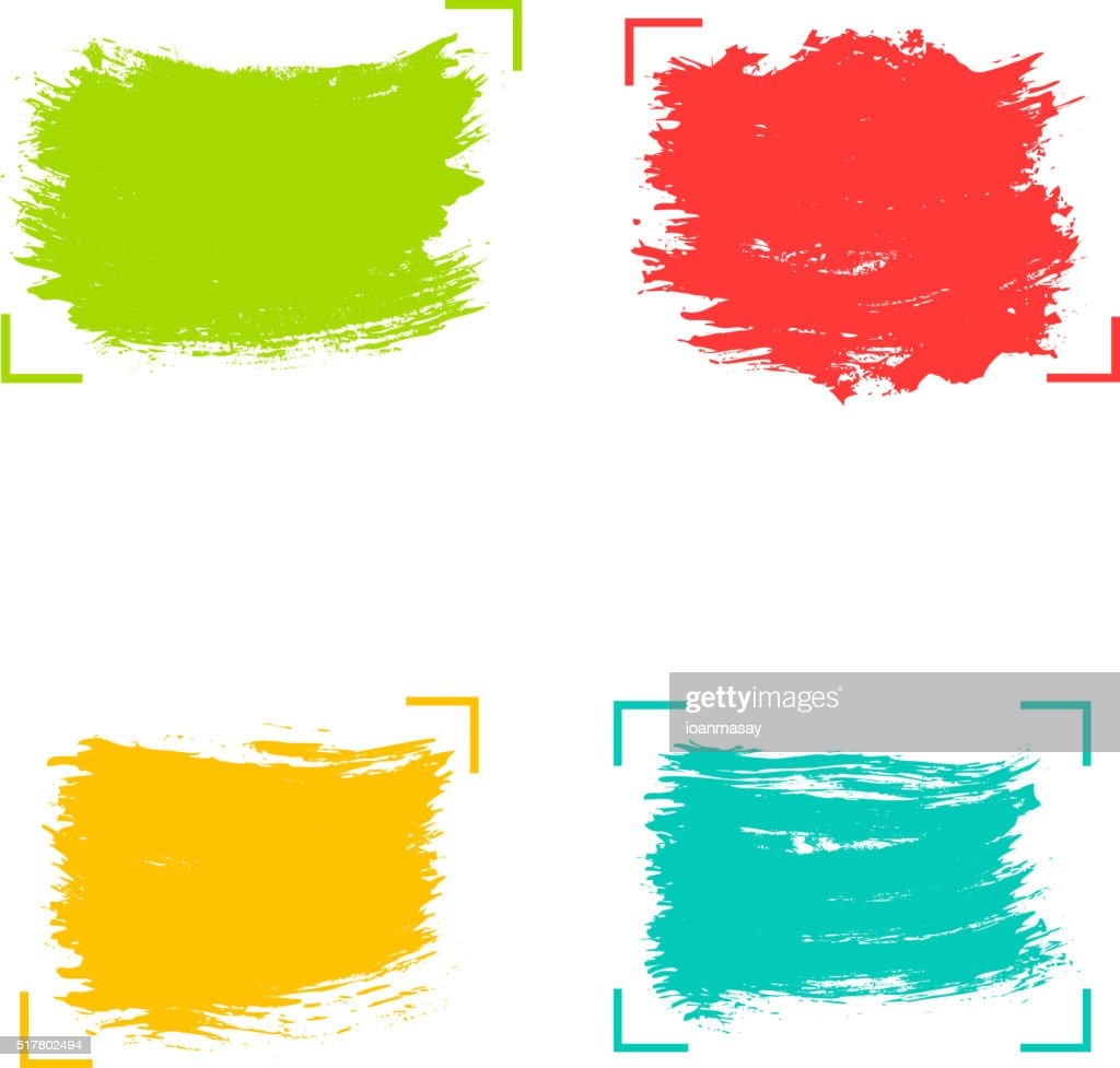 Set of vector hand drawn backgrounds. Quote blank templates.