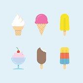 Set of vector ice cream icons