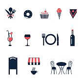 set of vector icons for cafe