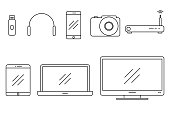 Set of vector icons gadgets